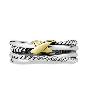 David yurman Sterling silver crossover cable ring